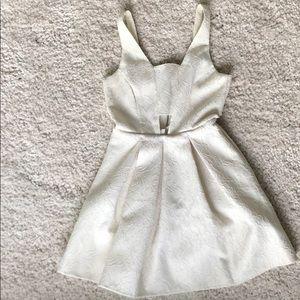 Topshop white lace cutout dress